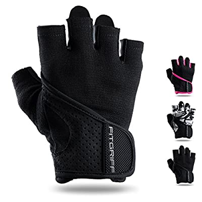 Fitgriff Trainingshandschuhe für Damen und Herren [Gym Gloves] - Leichte Fitness Handschuhe Ohne Handgelenkstütze für Krafttraining, Bodybuilding & Crossfit Training - Workout Gloves for Women & Men von Fitgriff