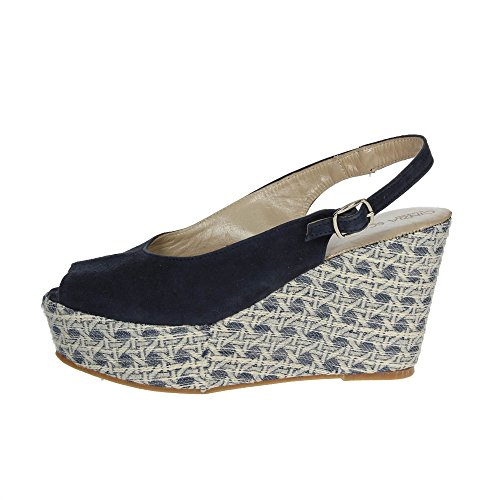 Cinzia Soft 4964 Sandale Femme Bleu Bleu - Chaussures Sandale Femme