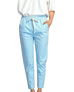Guiran Pantalons Femme Slim Taille Haute Pantalon Crayon Taille Elastique  avec Cordon afa5b6b8a67