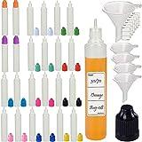 Rauchölflasche,Nadeltropfflaschen Filling Bottles E-Juice Needle Tip LDPE, Nadelflasche, Squeeze bottle, leere Liquidflasche für E-liquids zum Mischen oder Nachfüllen von E-Shishas und E-Zigaretten (25pcs Pack, Multicolor)