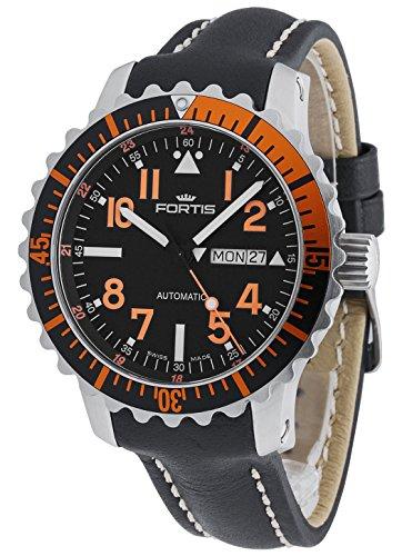Fortis Hombre Reloj de pulsera aquatis Marino Master Fecha Día de la semana analógico automático Naranja 670.19.49L.01