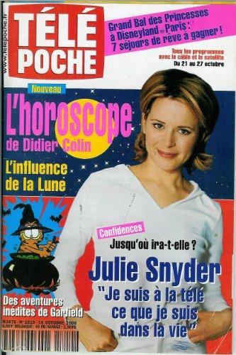 Télé Poche - n°1810 - 16/10/2000 - Julie Snyder / Confidences