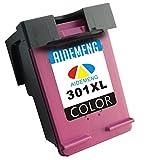 AideMeng Remanufactured Ersatz für HP 301XL Druckerpatronen (1 Tri-Farbe) Kompatibel Mit HP Deskjet 2544 2540 1010 1000 3050 1510 2510, HP Officejet 2620 4630 4636 2622 4634, HP ENVY 4500 4504 5530 5532 4502 (1 Farbig)