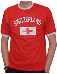 BRUBAKER Herren oder Damen Fan T-Shirt Schweiz Rot Gr. S - XXXL