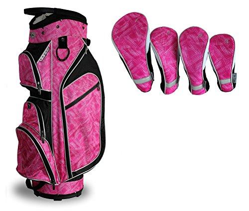 Tabu Fashions Monaco Carry/Leicht Cartbag Paket mit Club Bezüge (Mehr Farben erhältlich), Moulin Rouge