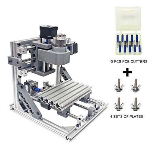 Wisamic DIY CNC Fräsmaschine 1610 GRBL , Arbeitsbereich 160 * 100 * 45mm DIY CNC Router Maschine 3 Achsen Mini Holz PCB Acryl Fräsmaschine Metall Gravur Carving Maschine +10 Stück CNC Fräsbits