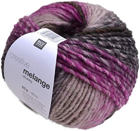 Rico Creative Melange Melange Melange Chunky FB. 51, coton pour aiguilles 6–7 mm avec dégradé B075GWK5M3 c8de0a