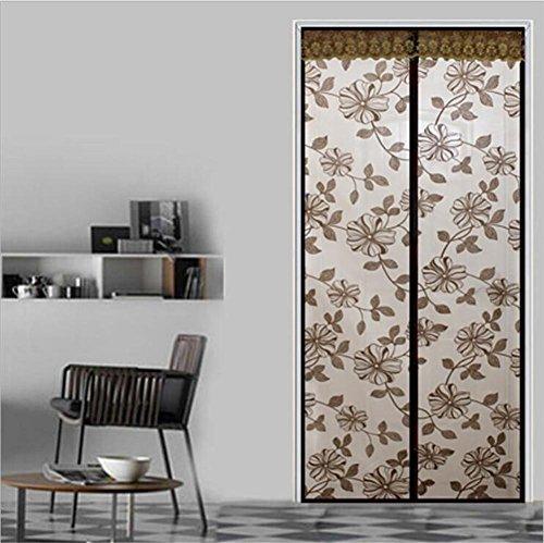 Brown Partei Und Zubehör Rosa (MTTLS Verschlüsselung Beflockung Blumen Moskito Tür hängen Vorhänge hochgradige Stummschirme magnetischen weichen Garn Vorhang , coffee ,)