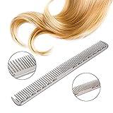 Anself Capelli Pettine Professionale Hair Salon Parrucchiere Acciaio Pettine Taglio Metallico Pettine Nero