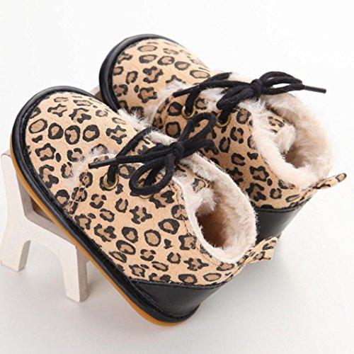 Hunpta Babyschuhe Mädchen Jungen Lauflernschuhe Baby Kleinkind Säugling Schneestiefel Schuhe Gummischuhe ausschließlich Prewalker Krippe (13, Braun) Khaki