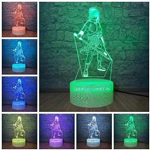Personaggi anime lampada da tavolo a led 3d 7colorled lampada da tavolo decorazione della casa giocattoli regalo per bambini