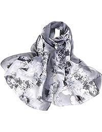 495ee95b04ca AIMEE7 Femmes Mode Écharpe à Imprimé Fleur de Pivoine Pas cher Élégant  Châle Foulard Longue Automne