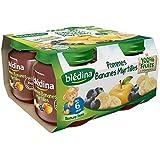 Blédina petits pots pomme banane myrtille 4x130g dès 6 mois - ( Prix Unitaire ) - Envoi Rapide Et Soignée