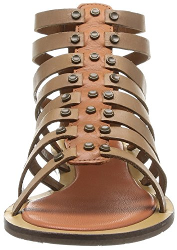 Pepe Jeans London Gayton Roman, Sandali Donna Marrone (Brown (Cappuccino))