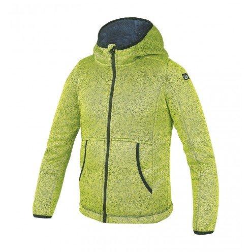 BREKKA-FELPA CON CAPPUCCIO, MODELLO KNIT PELUCHE Green Lime 12 anni
