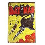 crzcrz Affiche Batman rétro en métal Panneau métallique DC Comic Book Art Décoration Murale en étain 2030 cm