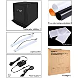 PULUZ 40 * 40 cm Faltbare LED Leuchtkasten Foto Studio Fotografie Zelt Box Kit