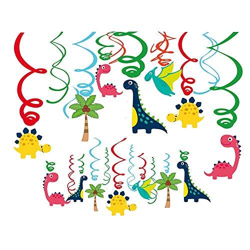 KAIMENG Serpentinas en Espiral de Dinosaurio Serpentinas de la Fiesta Infantil Colgante...