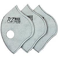 RZ Mask Filtros HEPA F3 con carbón activo, Regular (Large), 3 piezas