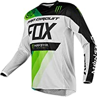 Camiseta De Mx Fox Pro Circuit Monster Energy 2018 360 Blanco-Verde (L , Blanco)