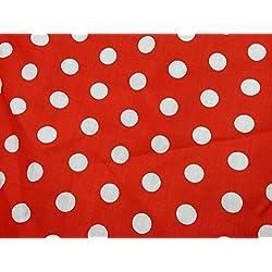Tela de Mickey Mouse de la marca Prestige de lunares de polialgodón para manualidades, disfraces, banderines, se vende por metro