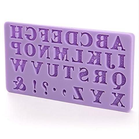 moule silicone alphabet lettres #536 pâte à sucre amande chocolat biscuit fimo