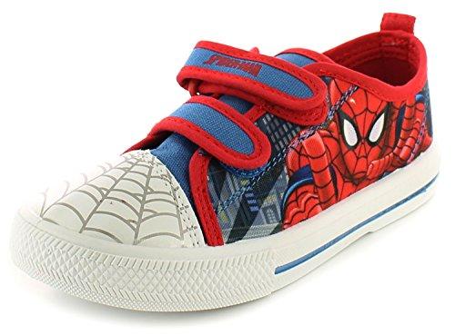 Neu Jüngeres Jungen/Childrens Blau/Rot Klettverschluss Spiderman Pumps blau/rot - UK GRÖßEN 7-1 - Jungen', Blau/Rot, 25 (Spider-man-klettverschluss)