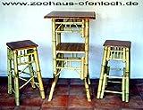 Bambus Set Wohnbereich aus Bambus Barhocker