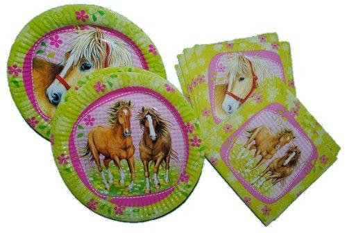 te + Pappteller Pferde Geburtstag Kinderparty ()