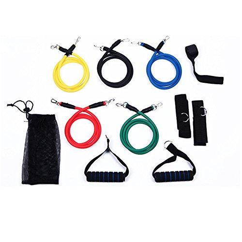 ZOORON leicht Übungsbänder 11 Widerstand Bands Yoga Pilates Crossfit Fitness Equipment Praktische Elastic Training Pull Seil Workout Latex Tube Set für - Tür-workout-system