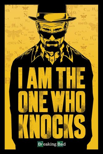 "Empire Merchandising GmbH - Poster con accessori, tema: Breaking Bad  ""I Am The One Who Knocks"" multicolore"