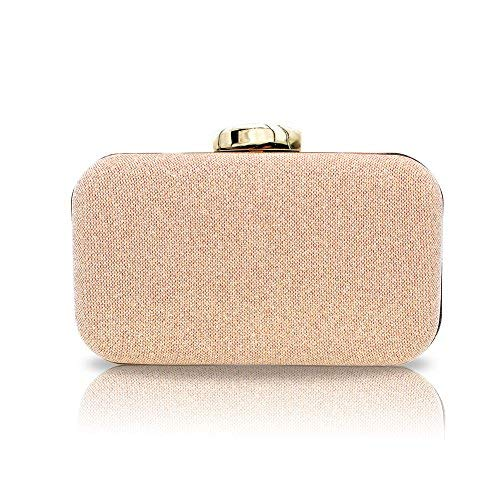 5cfd4f3ee93c Artemis'Iris Elegant Rose Gold Clutch Purse Crossbody Bags for Ladies,  Eye-catching Party Wedding Bridal Prom Dating Clutches and Evening Bags