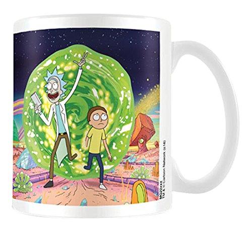 Rick y Morty Portal taza de cerámica, multicolor