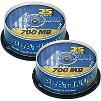 Platinum CD-R 700 MB CD-Rohlinge (52x Speed, 80 Min) 50er Spindel