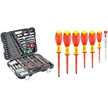 Connex Werkzeugkoffer, Kfz-Profi, 160tlg. + Elek.-Schraubendrehersatz VDE 7tlg.
