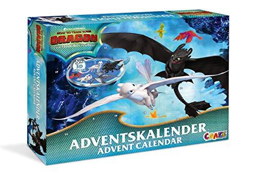 CRAZE Calendrier de L'avent DRAGONS 3 Comment dresser votre calendrier de jouets Dragon 2019 pour les enfants à Noël 19573