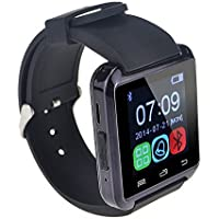 LEMFO Bluetooth Smart Watch WristWatch U8 UWatch Fit for Smartphones IOS Android Apple iphone 4/4S/5/5C/5S Android Samsung S2/S3/S4/Note 2/Note 3 HTC Sony Blackberry ship from amazon UK warehouse only(Black) by Uzou