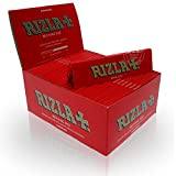 RIZLA KING SIZE SLIM THIN SMOKING ROLLING PAPERS 50 BOOKLETS (RED)