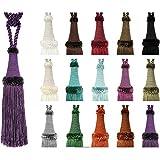 e-kurzwaren Borla con Cordel 20cm/80cm Abrazadera para Cortinas, Alzapano, Cuerda con Borla, Cortina, decoración del hogar