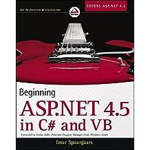 Beginning ASP.NET 4.5: in C# and VB by Imar Spaanjaars (2012-11-06)