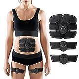 OMZBM Bauchmuskeltoner USB Wiederaufladbare Abs Toning Gürtel, Body Muscle Fitness Trainer Getriebe ABS Stimulator Für Bauch/Arm/Bein Training Männer Frauen,Batteries