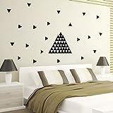 Winhappyhome 154 Pcs Triangles Amovible Wall Art Stickers DIY Design For Chambre Salon