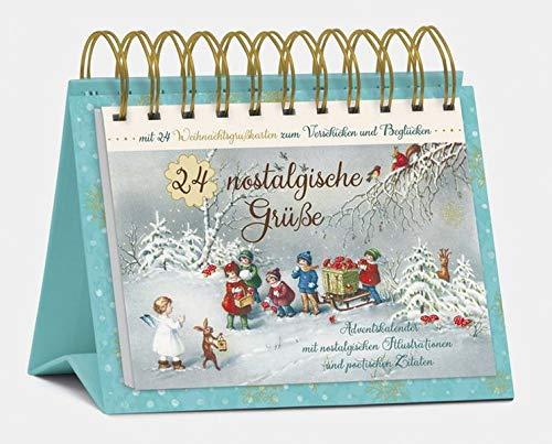 """Tisch-Adventskalender """"24 nostalgische Grüße"""": Postkartenkalender zum Aufstellen"""