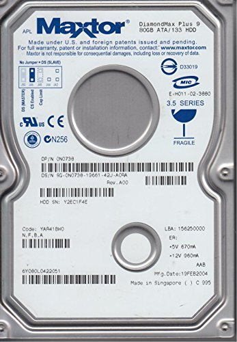 6Y080L0, Code YAR41BW0, NFBA, Maxtor 80GB IDE 3.5 - Ide Gb Festplatte 80