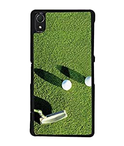 PrintVisa Designer Back Case Cover for Sony Xperia Z2 (5.2 Inches) (Golf Stick And Balls Design)
