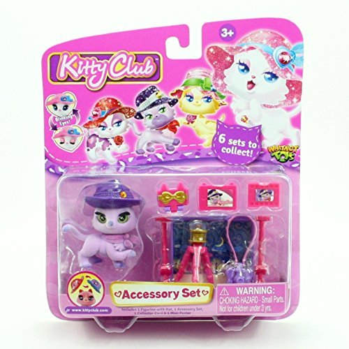 AUBREY THE PHOTOGRAPHER ACCESSORY SET * Kitty Club * 2016 Whatnot Toys Accessory Set & Figurine w/ Hat by Kitty Club -