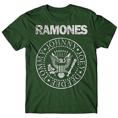 LaMAGLIERIA Camiseta Hombre Ramones - Grunge Print - Camiseta...