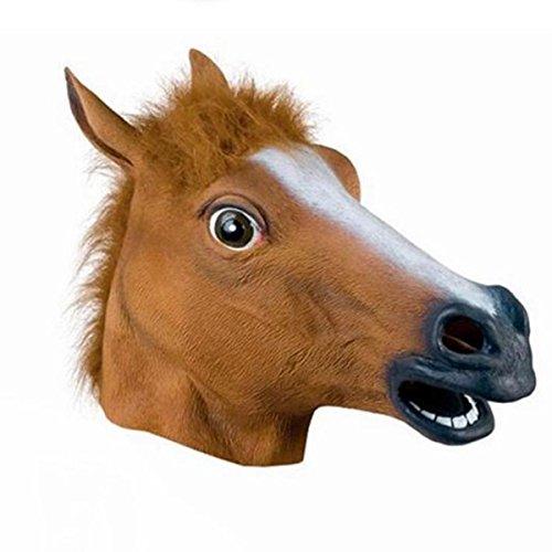 soxid (TM) Pferd Kopf Maske aus Latex Halloween Masken Theater Prop Horror Maske Cosplay Kostüm Masquerade Maske Festive & Party (Maske Gas Reales)
