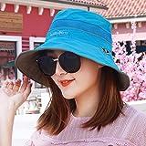 YANGFEIFEI-MZ Männer und Frauen universal Outdoor fast Dry cap Beidseitiges tragen sunscreen Hut Reitkappe sun-light cap-horse tail Cap, Blau