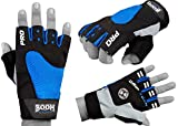 BOOM Prime Amara Leder Gym Handschuhe Weight Lifting Gepolstertes Training Fitness Radfahren Workout L